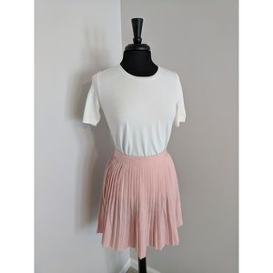 H&M Pink Pleated Skirt